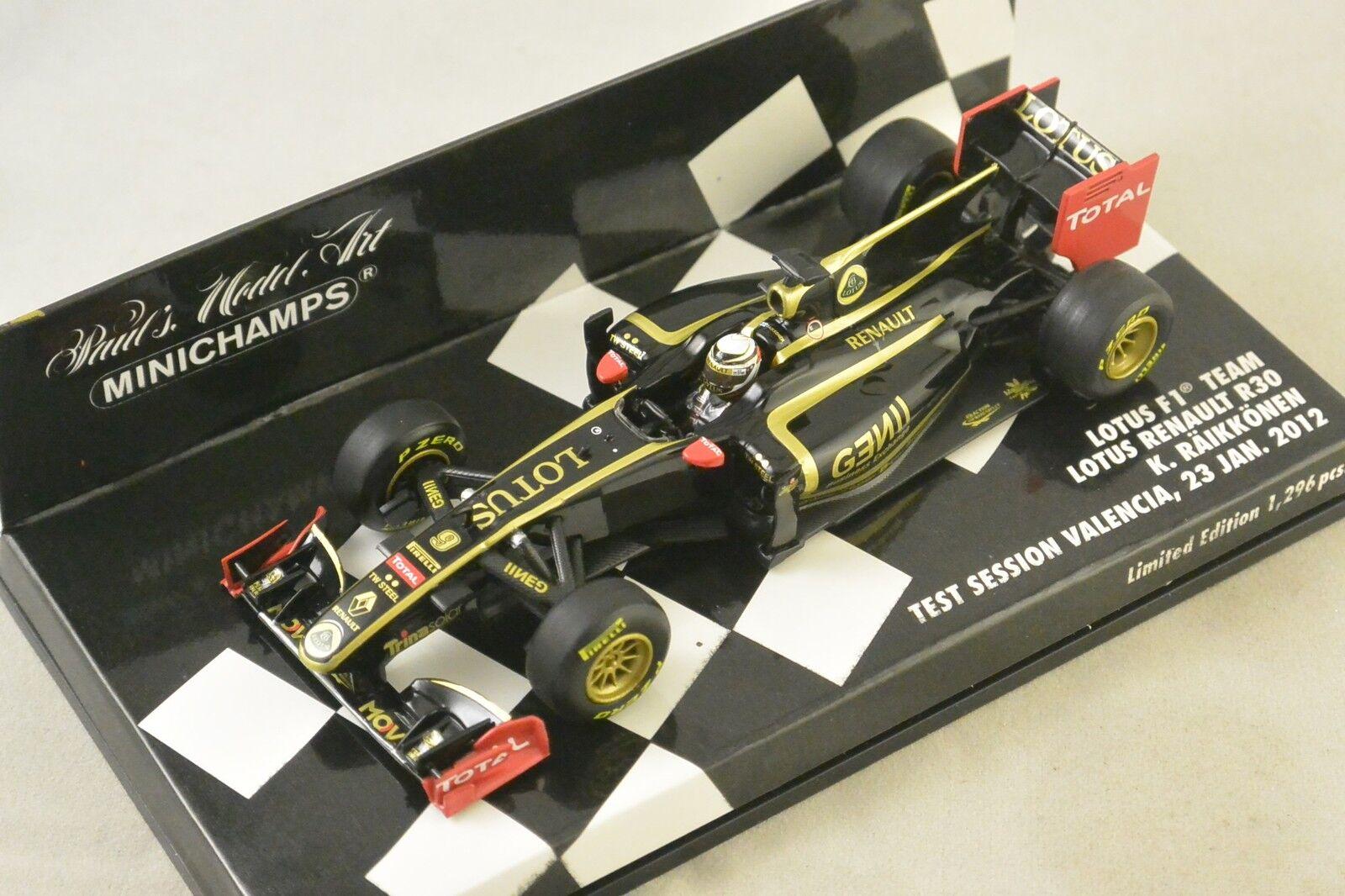 Minichamps 410120179-lotus f1 team  renault valencia test 2012 raikkonen 1 43  promotions d'équipe