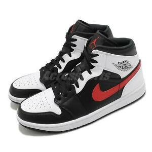 Details about Nike Air Jordan 1 Mid Chile Red White Black Men Shoes Sneakers AJ1 554724-075