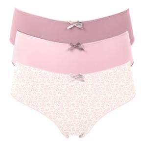 406c7586b046 Pretty Polly Bikini Knickers 3 Pair Pack S M L in Floral Pinks | eBay