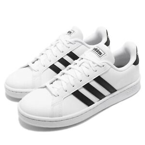 adidas-Grand-Court-White-Black-Women-Classic-Casual-Shoes-Sneakers-F36483