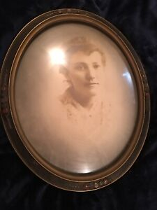 Victorian Frame oval bubble glass