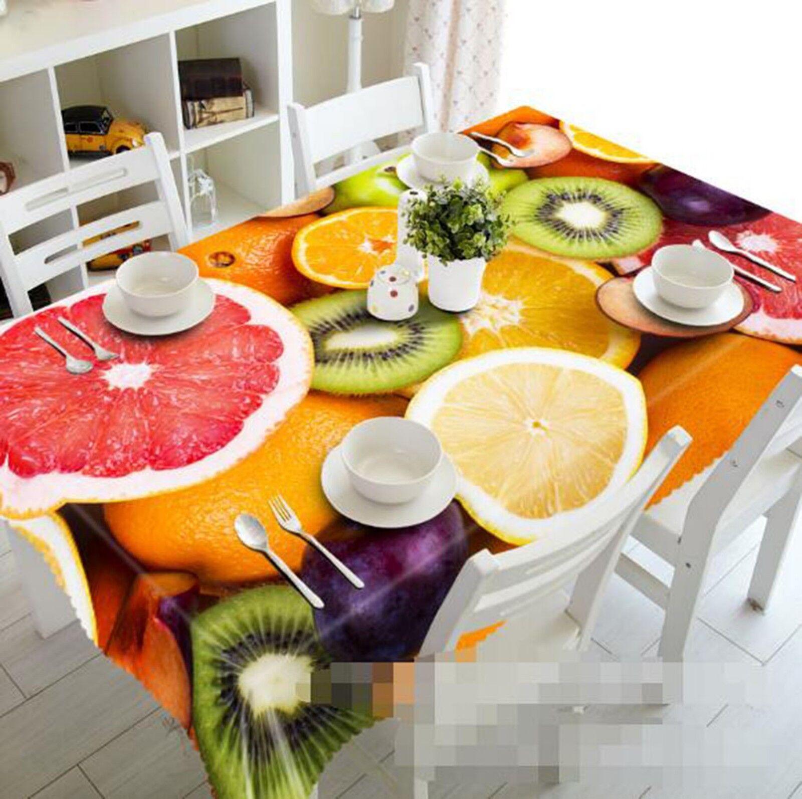 3D Fruit Couleur 051 Tablecloth Table Cover Cloth Birthday Party Event AJ Lemon