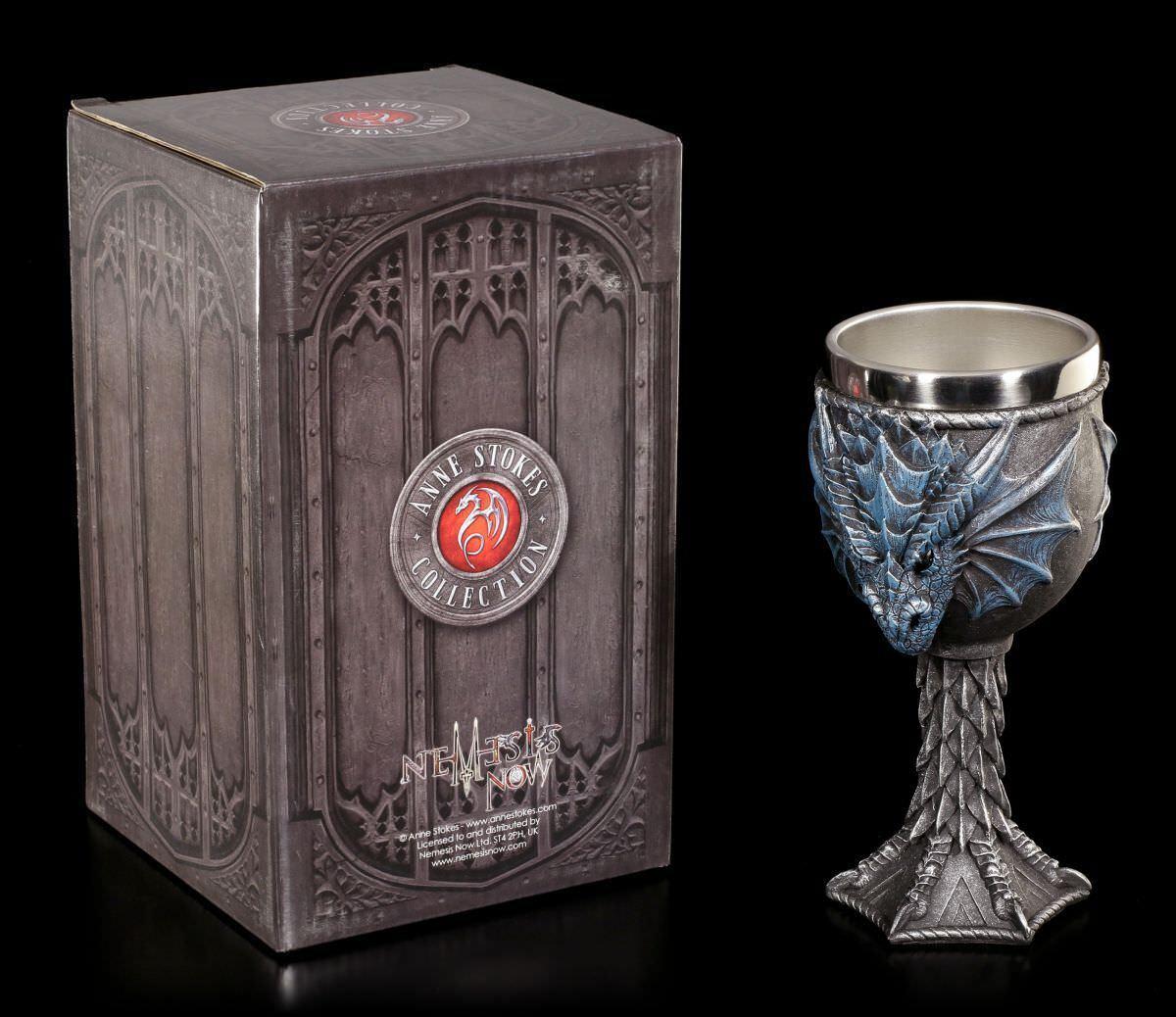 Dragon Chalice - Dragon Lore by Anne Stokes Stokes Stokes - Gothic Fantasy Wine Goblet Tumbler 856058