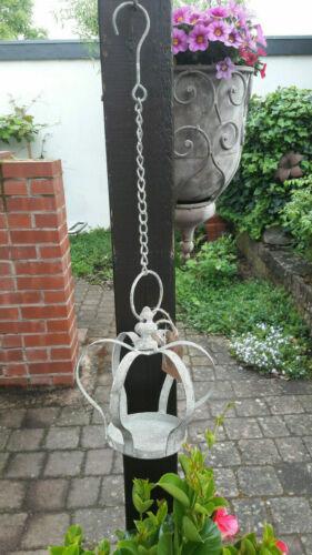 Hängedeko Krone Metall grau Deko Garten Balkon Terrasse Shabby Vintage 3 Grössen