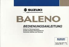SUZUKI   BALENO    Betriebsanleitung   1996   Bedienungsanleitung  Bordbuch   BA