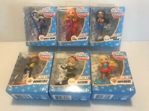 "DC Super Hero Girls Mini Action Figure Collectibles 3"" Set 6 Harley Quinn /& More"
