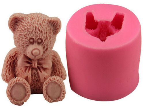 Silicone 3d Moule ours en peluche crème Gâteau Emporte-pièce déco anniversaire
