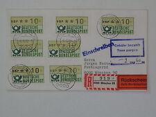 (g520) Bund ATM Orts-R-Rückschein-Brief, Barfreimachung München 6.5.1982