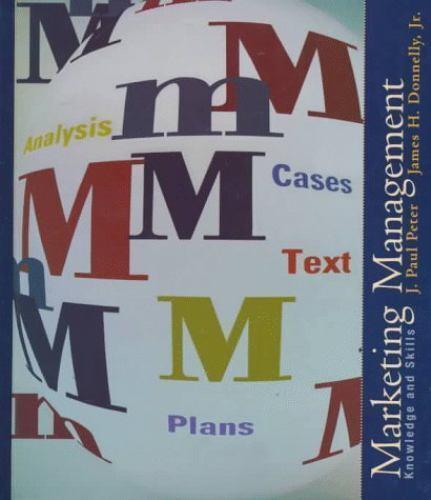 Marketing Management: Knowledge and Skills (Irwin/McGraw-Hill Series in Marketi