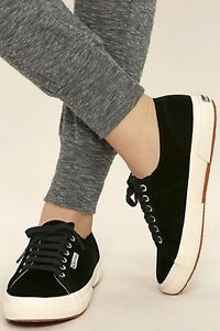 SUPERGA Velvet Low Top Sneakers Size