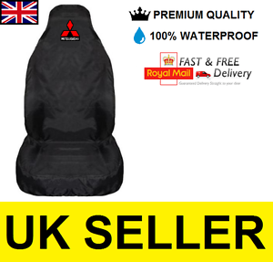 BLACK MITSUBISHI SHOGUN PREMIUM CAR SEAT COVER PROTECTOR 100/% WATERPROOF x1