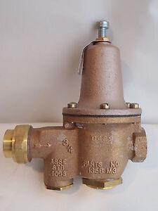 watts water pressure reducing valve u5blp 3 4 75 u 5b lp 10 35 psi set 30 psi ebay. Black Bedroom Furniture Sets. Home Design Ideas