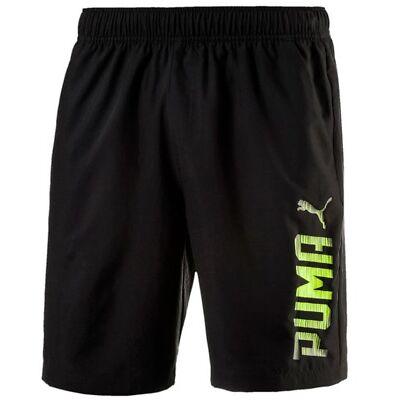 New Mens PUMA Logo Shorts Casual Swim Swimming Beach Summer Holiday - Black