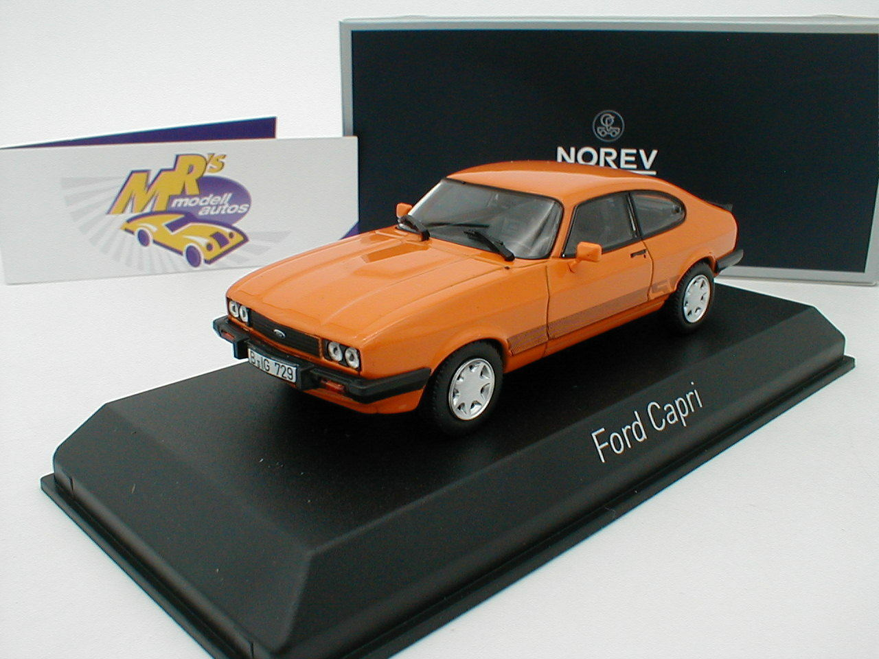 NOREV 270563   FORD CAPRI III Youngtimer année de fabrication 1980 in  Orange  1 43 NEUF