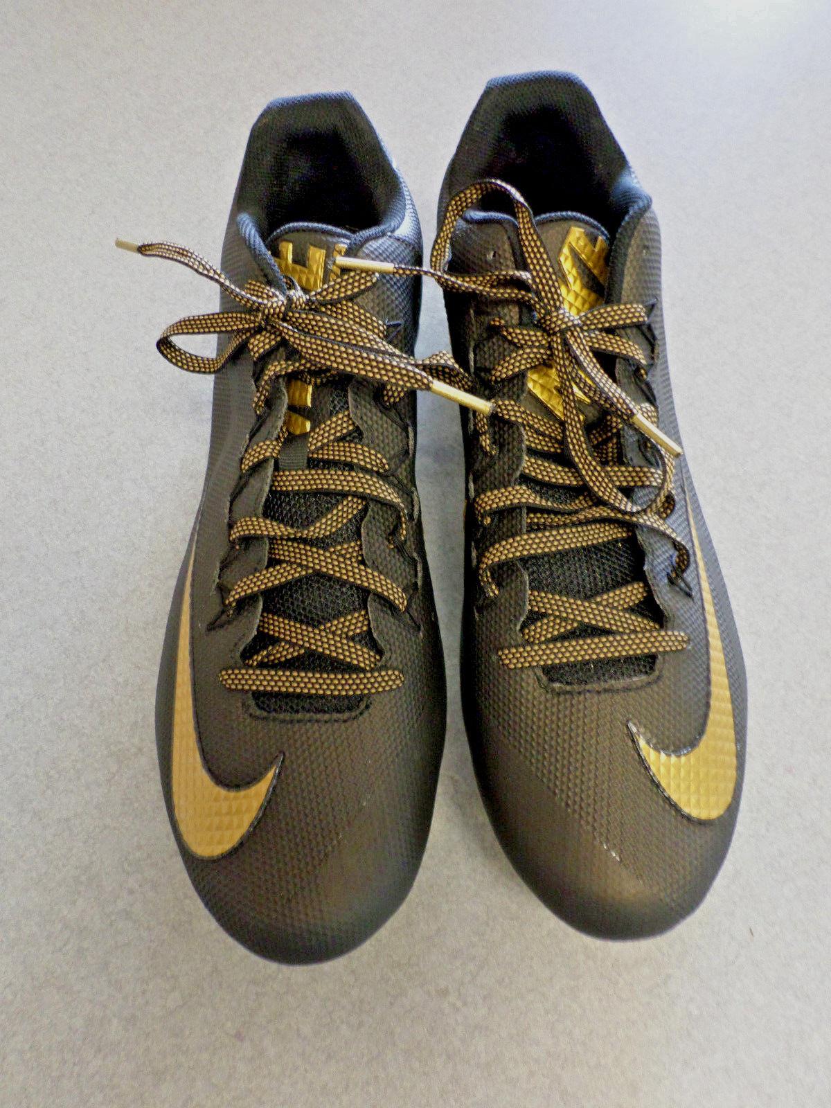 RARE Sample Nike  Alpha Pro 2  Black gold, Low Football Cleats Men's 16