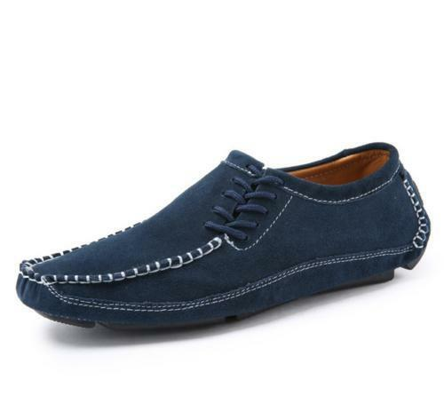 2019 Mens Slip On Side Lace up Comfy Casual shoes Moccasin Loafers Driving shoes