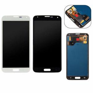 Display-Pantalla-Tactil-para-Samsung-Galaxy-S5-SM-G900F-Negro-Blanco-Piezas-de