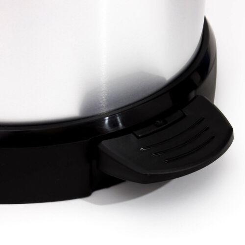 Silber// Schwarz Abfalleimer Mülleimer mit Fußpedal 40 Liter Curver Farbe