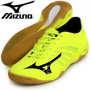 MIZUNO Soccer Futsal Shoes BASARA 101 SALA Q1GA1630 Yellow X black ... a7d0c0ab39a