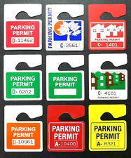 Real Parking Lot Permit Replacements Authentic Rear View Mirror Hang Tag Pass