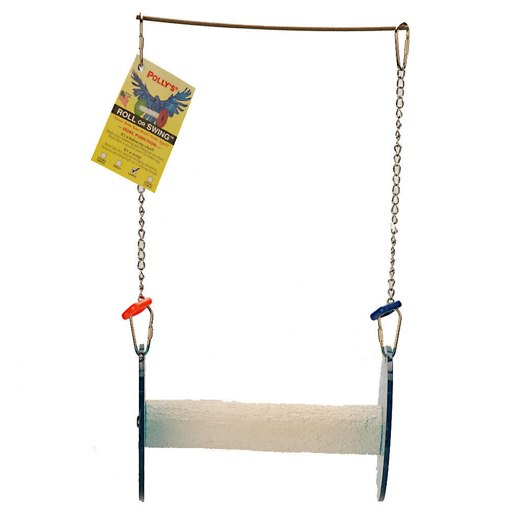Parred Bird Perch Polly Pets Roll and Swing