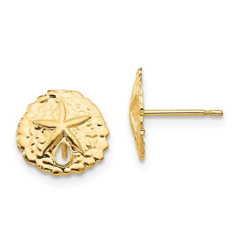 14kt Yellow gold Madi K Sand Dollar Post Earrings