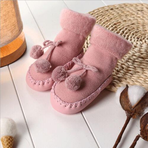 Newborn Slipper Shoes Boots Anti-slip Socks Cartoon Floor Baby Girl Boy