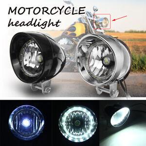 Motorcycle-LED-Bullet-Front-Headlight-Hi-Lo-Beam-Lamp-For-Harley-Bobber