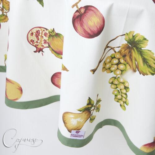 TOVAGLIA 180 x 180 cm circa frutti motivo dall/'Italia 100/% COTONE NUOVO