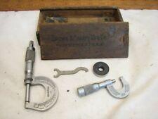 Brown Amp Sharpe No 13 0 1 Outside Micrometer Machinist Tool Box 225 12 Mic