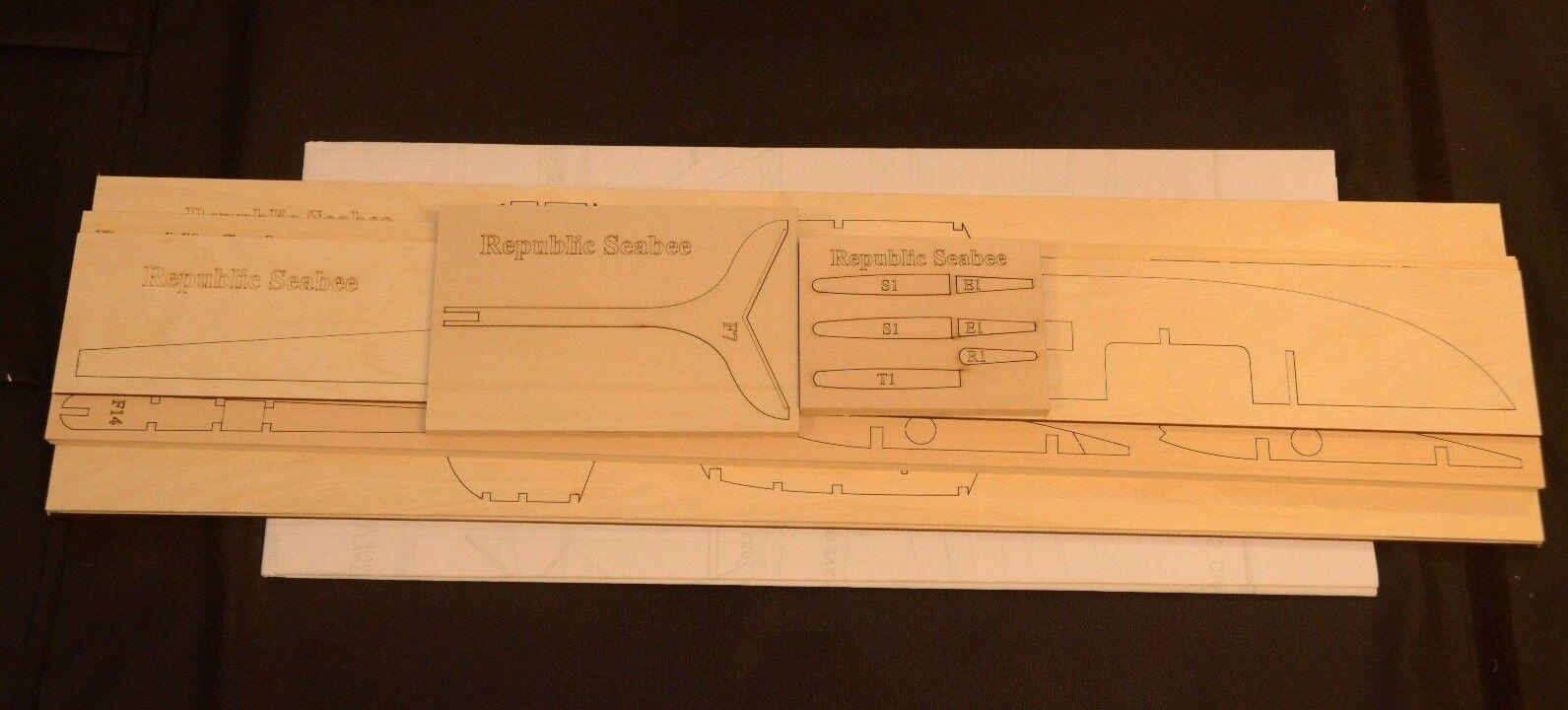 1 8 Escala Kit De Corte Láser República SEABEE SEABEE SEABEE corto, planos y Instr. 51 in (approx. 129.54 cm) ala palmo  Felices compras