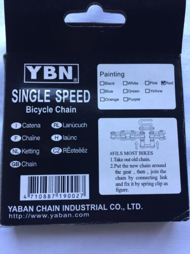 BMX Old School Chain Single Speed White//Silver