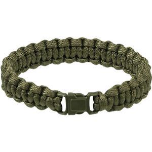 Tactisch-Army-Paracord-Polsbandje-Armband-Wandelen-Nood-Survival-Olive-15mm