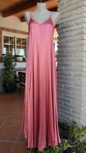 Italy Maxi Trager Kleid 100 Viskose Kupfer Chic Schlicht Leicht Apart Eg 38 42 Ebay