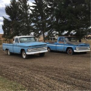 Two 1965 Chevy C-10's