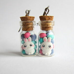 Easter gifts chocolate eggs bunny bow candy cookie jar blue earrings image is loading easter gifts chocolate eggs bunny bow candy cookie negle Choice Image