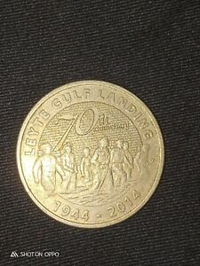 5-Pesos-Coin-Philippines-2014-Leyte-Gulf-Landing-70-Years-commemorative-limited