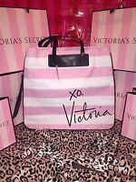 Victorias Secret Tote Bag Large Logo Front Signature Stripe
