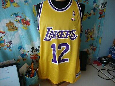 Vintage 90's Los Angeles Lakers Vlade Divac Champion NBA Jersey 48   eBay