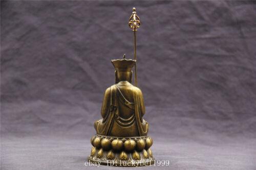 """3.8/"""" Chinese old bronze handicraft Tibetan Buddhism Ksitigarbha Buddha statue"""