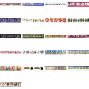 NICKELODEON-CHARACTER-Grosgrain-Ribbon-Trim-By-the-yard-Scrapbook-Hair-Bow-Craft