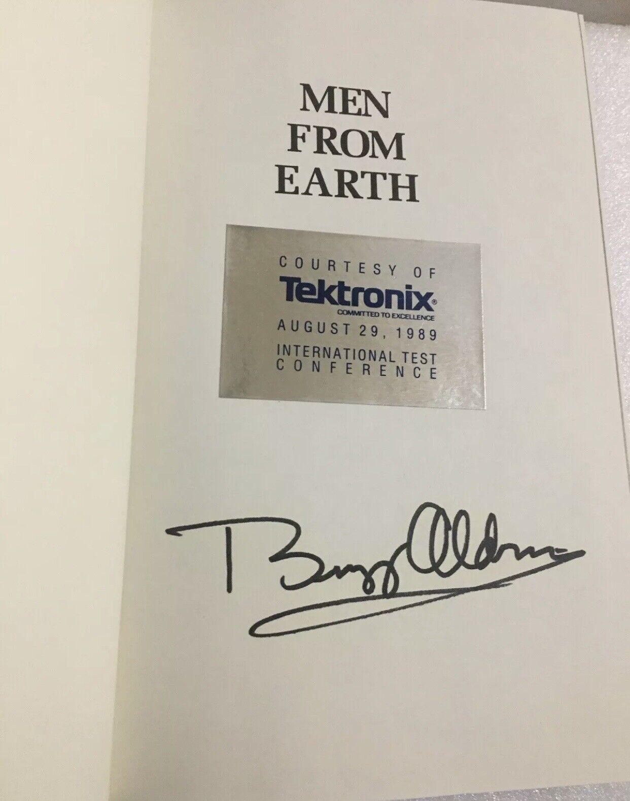 "s l1600 - Edwin ""Buzz"" Aldrin Signed Book ""Men From Earth"" Astronaut"