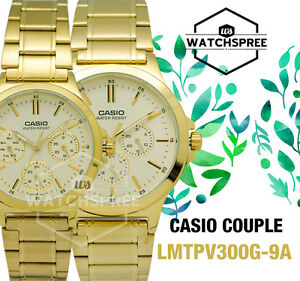 Casio-Couple-Watch-LTPV300G-9A-MTPV300G-9A