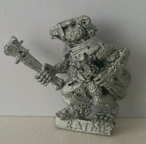 Classic-SKAVEN-Ratmen-Clan-Rat-with-Club-age-of-sigmar-AOS-GW1985-Scarce-OOP