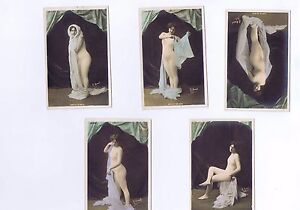 A-Set-of-5-Risque-Erotic-postcards-French-Circa-WW1