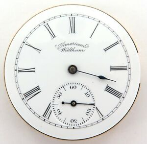 GREAT-DIAL-1894-WALTHAM-6S-7J-POCKET-WATCH-MOVEMENT-amp-DIAL