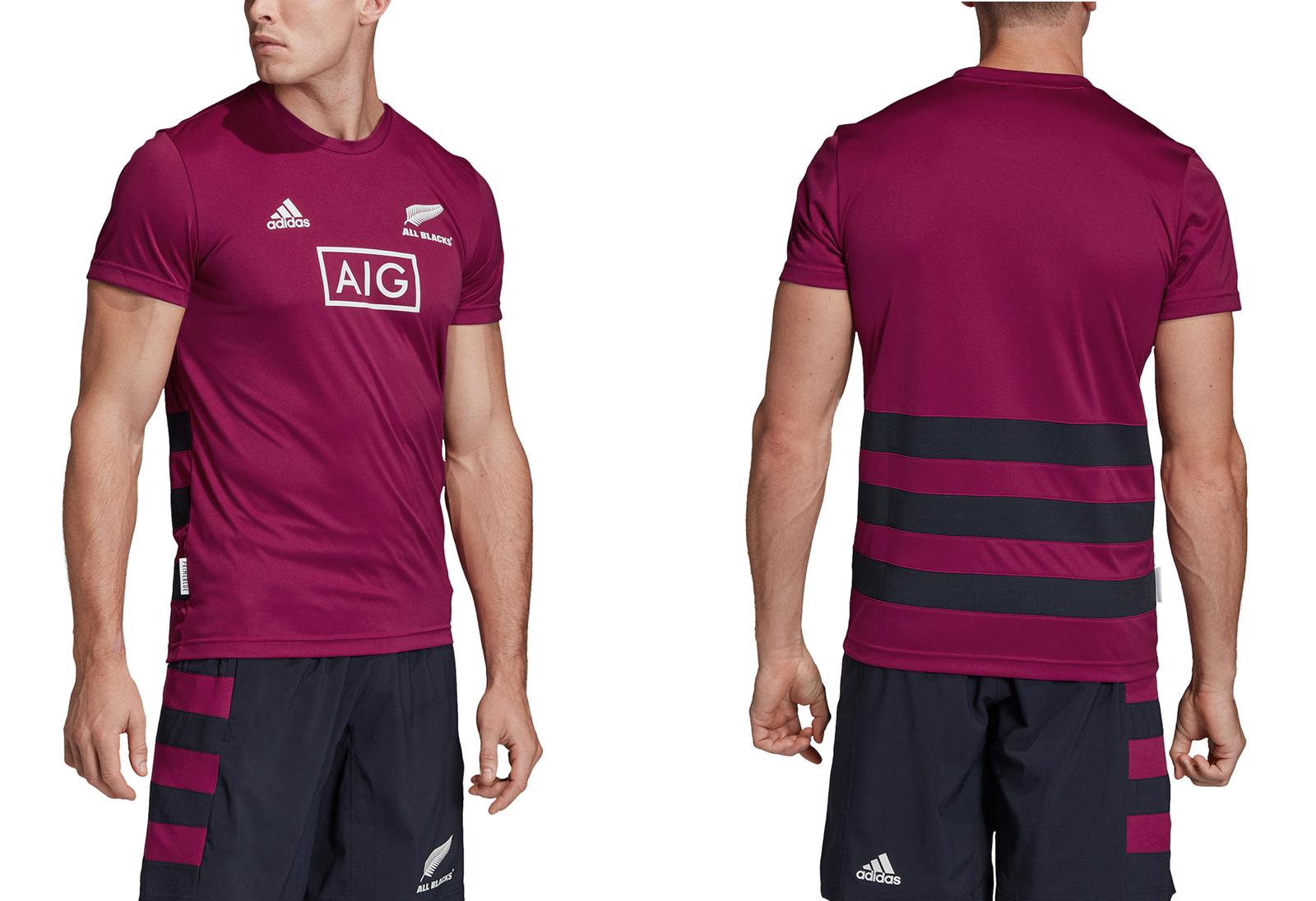 New Zealand Rugby T-Shirt adidas Men's All Blacks Training T-Shirt - New