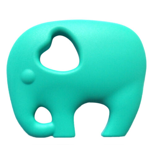 Silicone Elephant Teething Pacifier Chewable Pendant Toy Soother-Teether