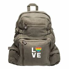 33408ae4ccdd Heart Mom Tattoo Love Army Sport Heavyweight Canvas Backpack Bag on ...