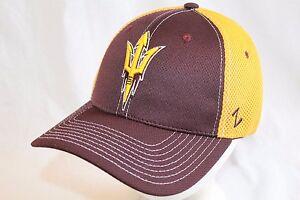 "Arizona State Sun Devils Hat Cap  /""Rally 2 Fork Flexfit Cap /"" Zephyr NCAA Hats"